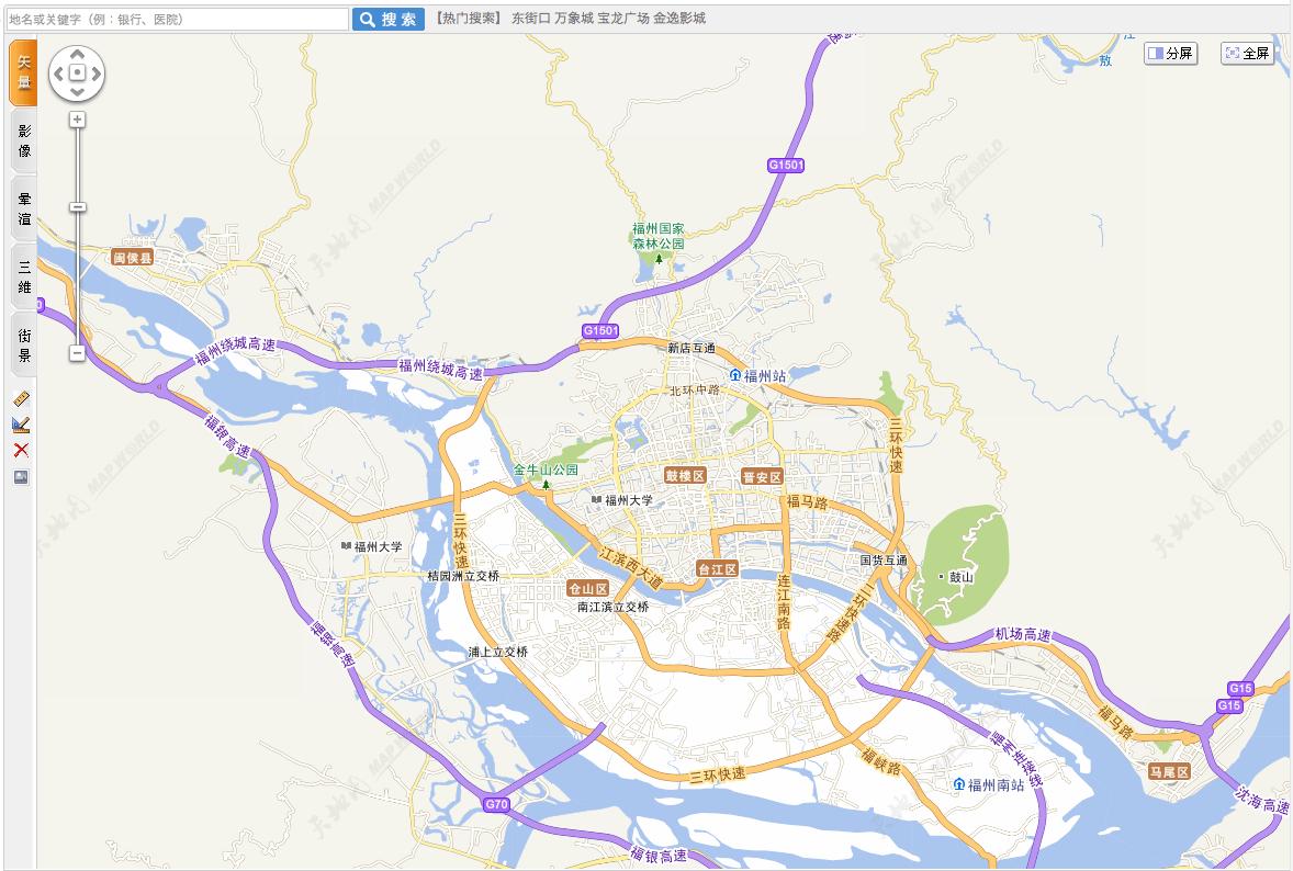 Mapworld Fujian