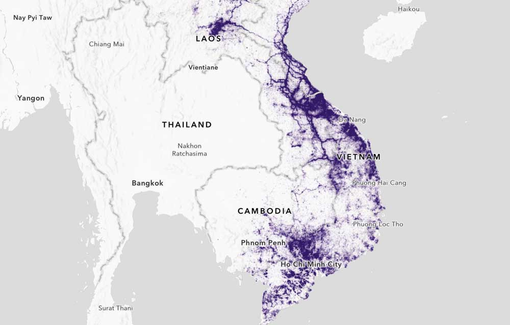 Map Of Asia During Vietnam War.Bombing Missions Of The Vietnam War Asian Surveying Mapping