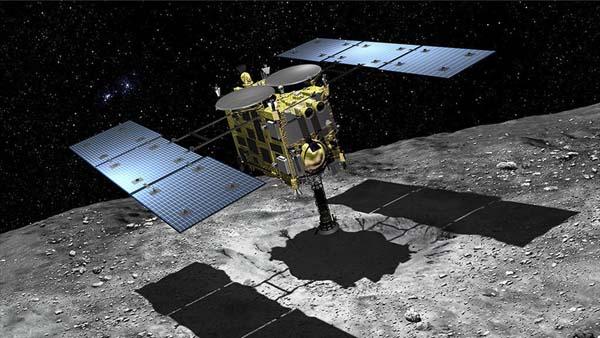 hayabusa2-spacecraft-on-asteroid-Akihiro-Ikeshita-JAXA